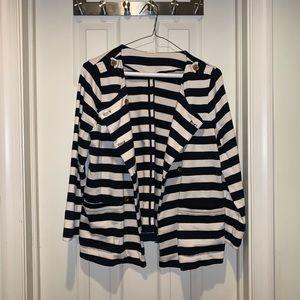 J Crew Striped Blazer Jacket
